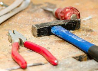 Tools on work table