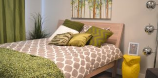 Uncluttered bedroom